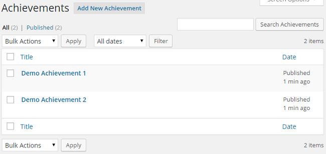 Achievements Overview